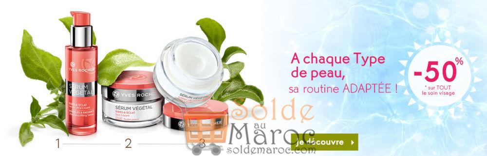 Promo Yves Rocher Maroc -50% sur TOUT le soin visage