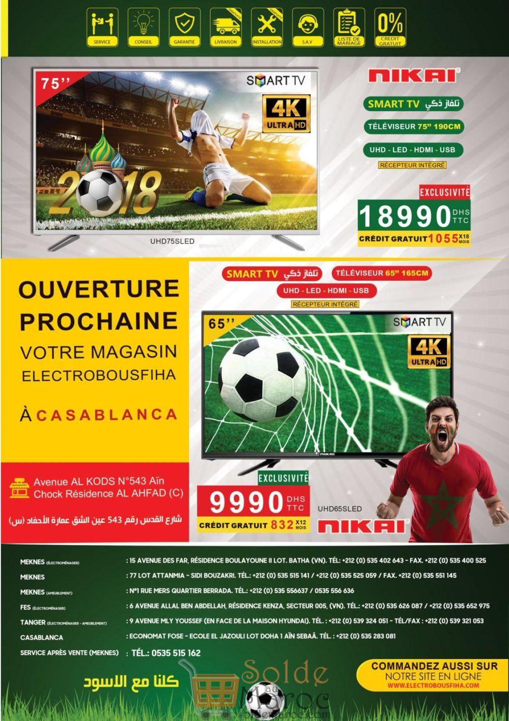 Catalogue Electro Bousfiha Spéciale Coupe du monde du 6 Juin au 5 Juillet 2018