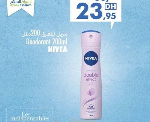 Promo Aswak Assalam Déodorant NIVEA 23.95Dhs au lieu de 33.95Dhs