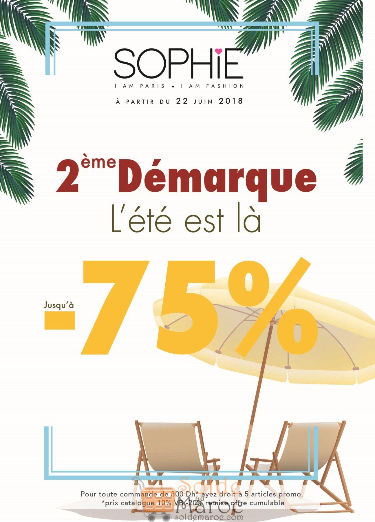 Catalogue Sophie Paris Maroc 2ème Démarque été 2018
