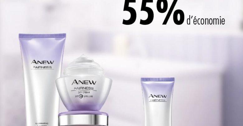 Promo Avon maroc 55% d'économie sur la gamme Anew Fairness