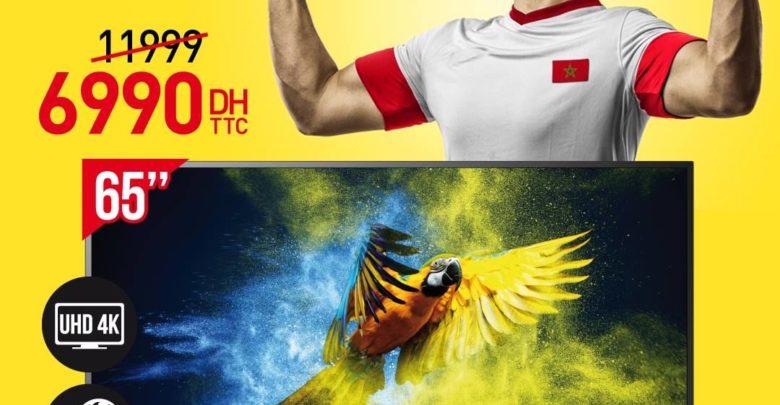 """Promo Biougnach Electro Smart TV INTEK 4K 65""""6990Dhs au lieu de 11999Dhs"""