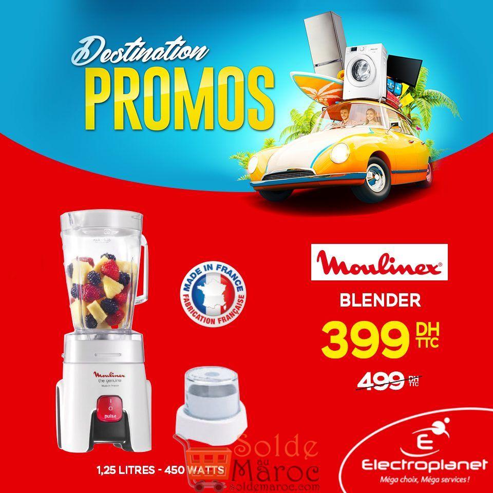 Promo Electroplanet Blender Moulinex 399Dhs au lieu de 499Dhs