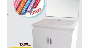 Promo Mr Bricolage Maroc Meuble Salle de bain MILAN 1299Dhs au lieu de 1399Dhs