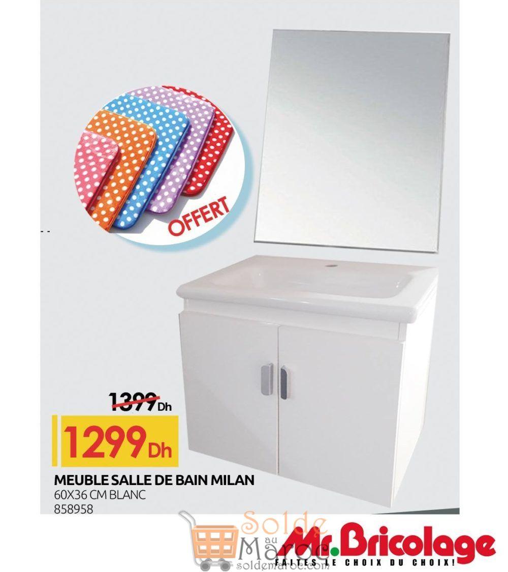 Promo mr bricolage maroc meuble salle de bain milan 1299dhs - Mr bricolage salle de bain ...