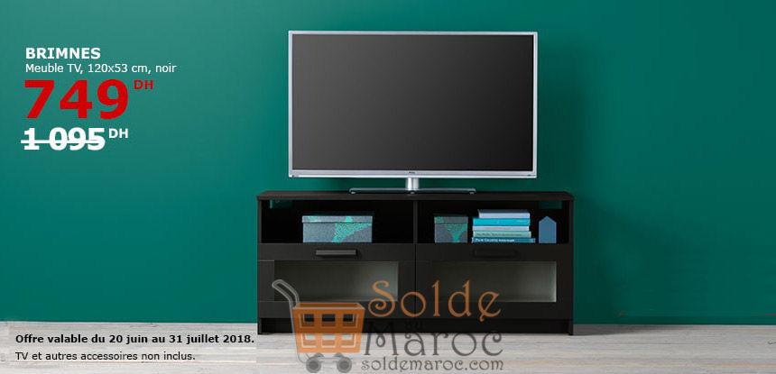 Soldes Ikea Maroc Meuble TV BRIMNES 749Dhs au lieu de 1095Dhs