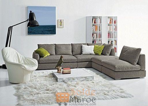 Promo Azura Home Canapé d'angle CACERES 7490Dhs au lieu de 7945Dhs