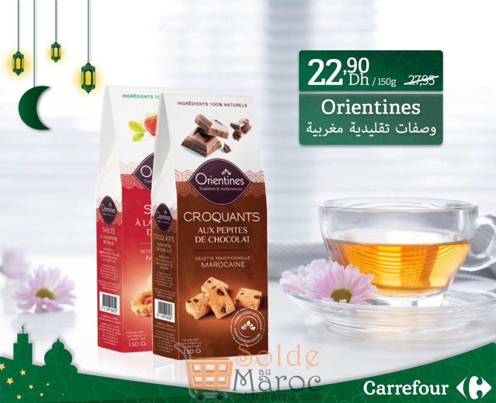 Promo Carrefour Biscuits marocains Orientines 22.90Dhs au lieu de 27.95DHs