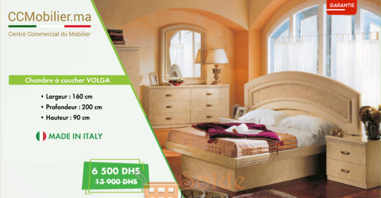 Promo CCMobilier Chambre à coucher VOLGA 160Cm 6500Dhs au lieu de 13900Dhs