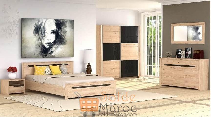 Promo Azura Home Chambre complète DOVER 4990Dhs au lieu de 6190Dhs