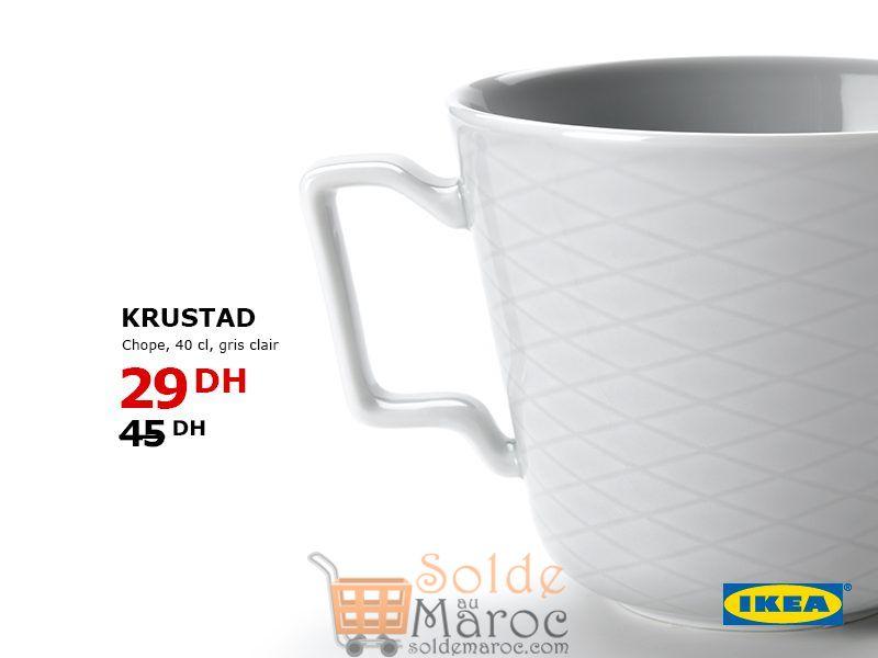 Soldes Ikea Maroc Chope KRUSTAD 29Dhs au lieu de 45Dhs