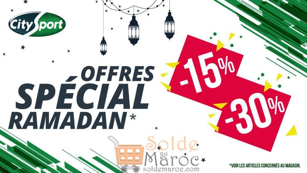 Offres Spéciales Ramadan chez City Sport