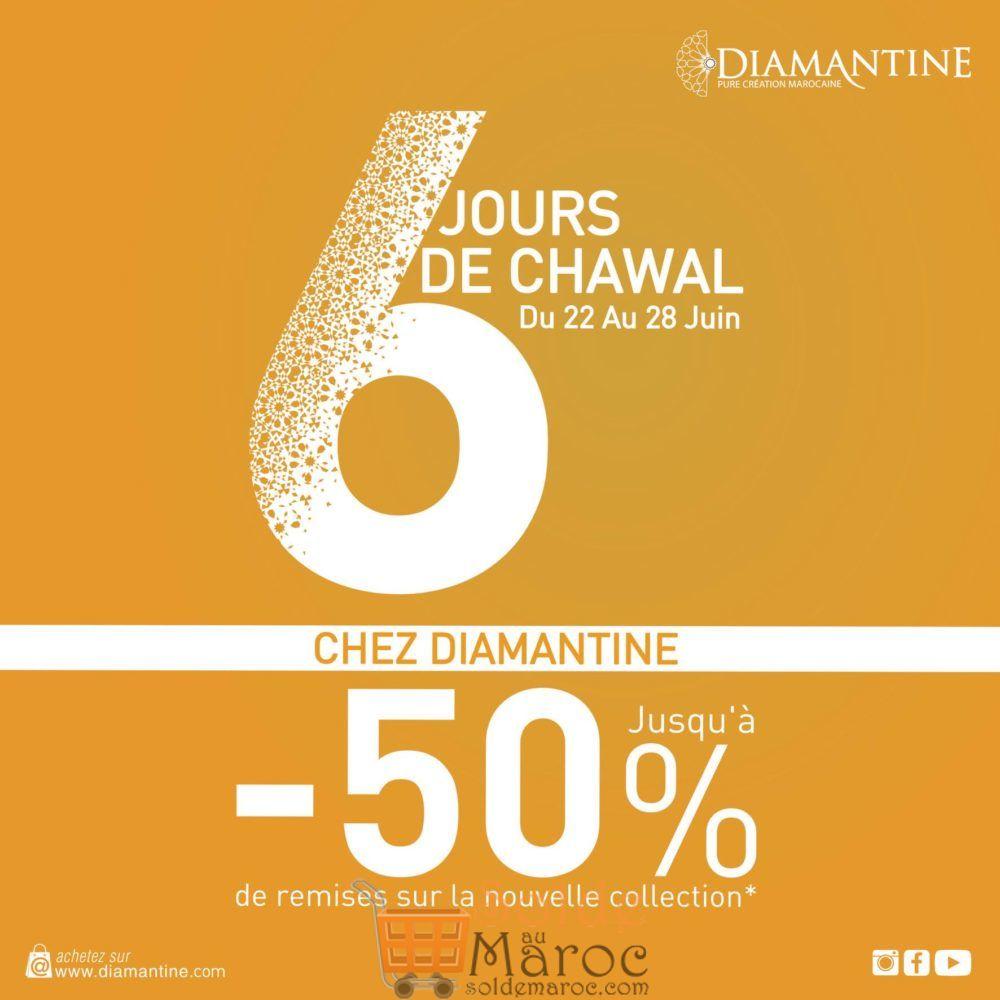 Promo DIAMANTINE jusqu'à -50 % sur la nouvelle collection du 22 au 28 Juin 2018