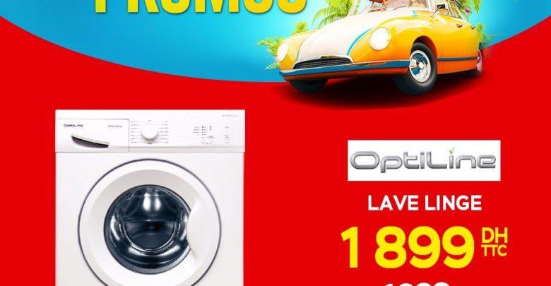 Promo Electroplanet Machine à laver Optiline 1899Dhs au lieu de 1999Dhs