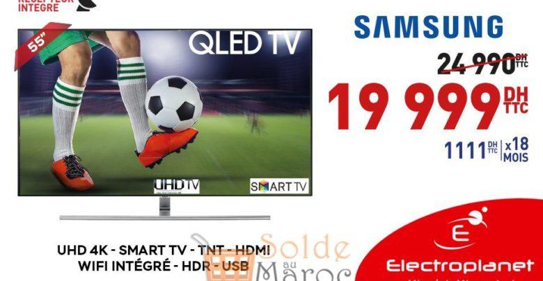 """Promo Electroplanet Smart TV Samsung 55"""" 4K 19999Dhs au lieu de 24990Dhs"""