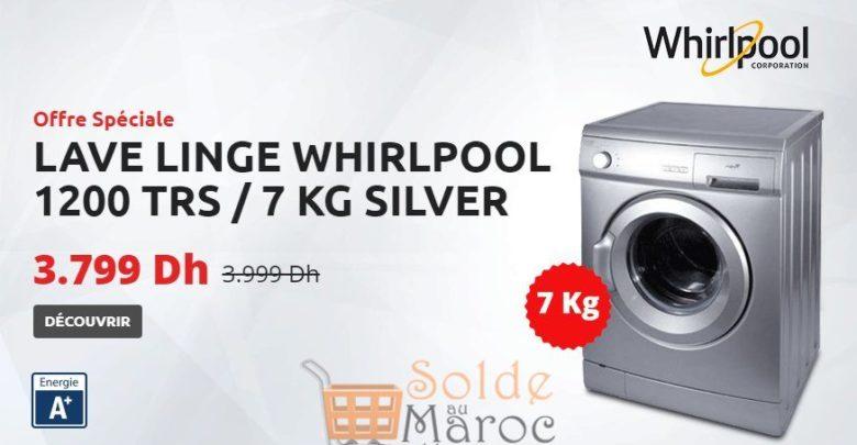 Promo Tangerois Electro Machine A Laver Frontale 7kg SILVER WHIRLPOOL 3799Dhs au lieu de 3999Dhs
