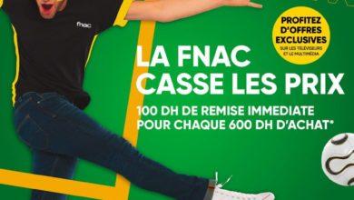 Offre Fnac Maroc 100Dhs de remise à 600Dhs d'achat