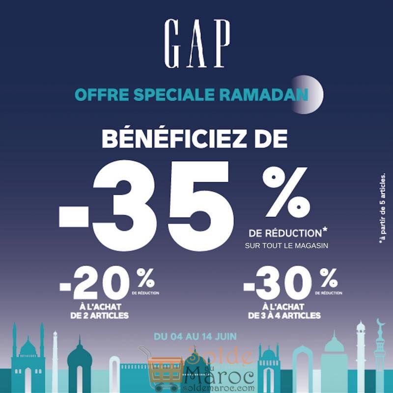 Offre Spéciale Ramadan chez GAP Maroc Jusqu'à -35% de Réduction