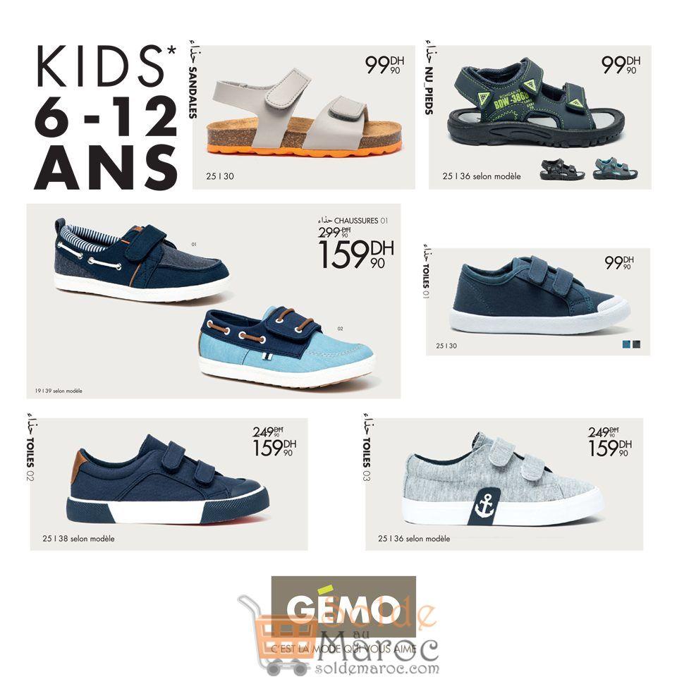 Promo Gémo Maroc Sandales & Chaussures Enfants 6-12 Ans