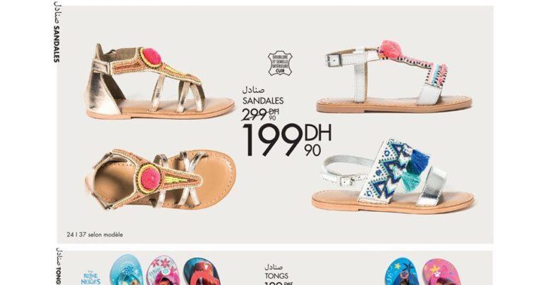 Photo of Promo Gémo Maroc Large Choix Sandales Fille et Garçon
