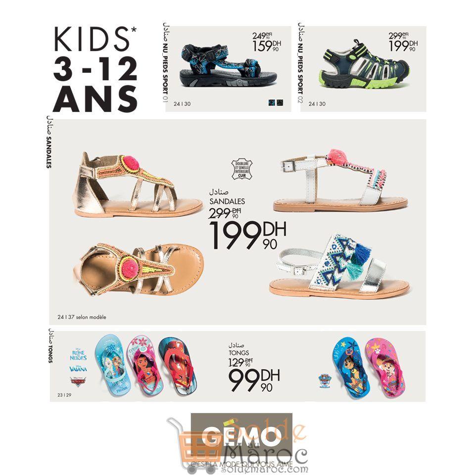 Promo Gémo Maroc Large Choix Sandales Fille et Garçon