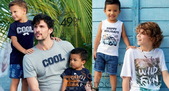 Promo Gémo Maroc Tee-shirt Homme 49Dhs au lieu de 69Dhs