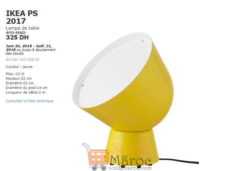 Soldes Ikea Maroc Lampe de table IKEA PS 2017 325Dhs au lieu de 499Dhs