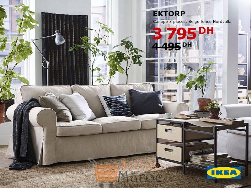 Soldes Ikea Maroc Canapé 3 places EKTORP 3795Dhs au lieu de 4495Dhs