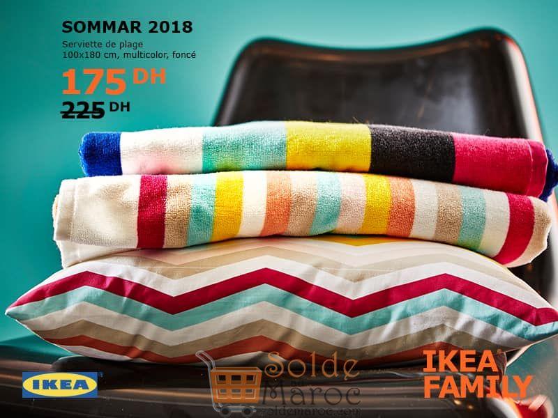 Promo Ikea Family SOMMAR 2018 Serviette de plage 175Dhs au lieu de 225Dhs