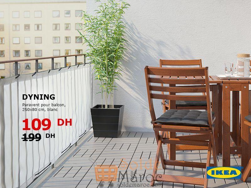 Soldes Ikea Maroc Parabent pour balcon 109Dhs au lieu de 199Dhs