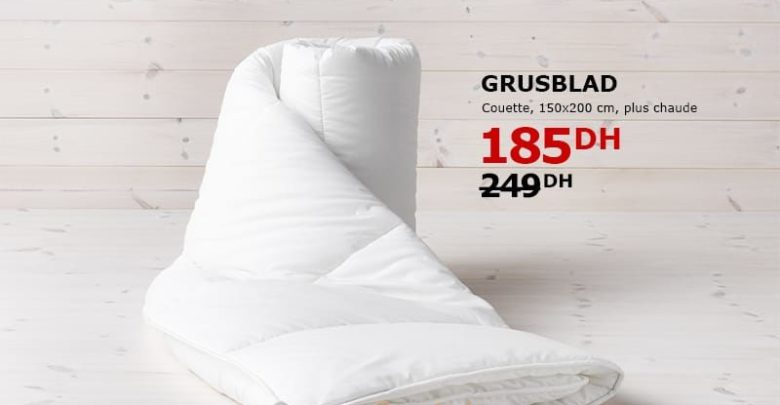 Photo of Soldes Ikea maroc Couette GRUSBLAD 185Dhs