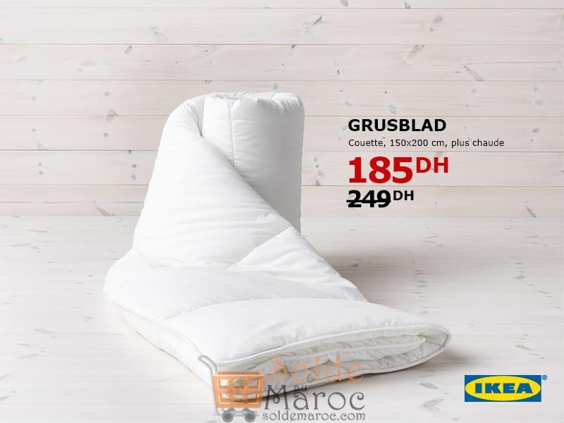 Soldes Ikea maroc Couette GRUSBLAD 185Dhs au lieu de 249Dhs