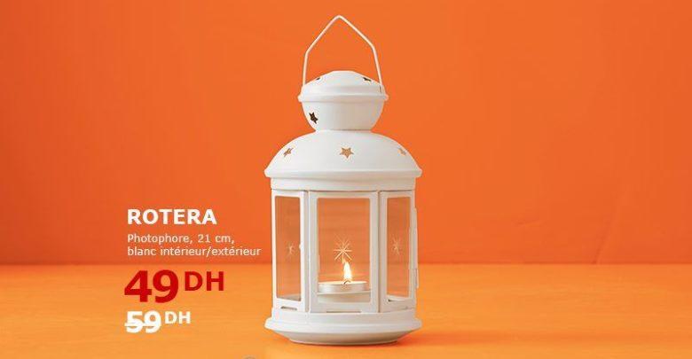 Soldes Ikea Maroc Photophore ROTERA blanc 49Dhs au lieu de 59Dhs