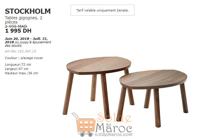 soldes ikea maroc tables gigognes 2 pi ces stockholm 1995dhs. Black Bedroom Furniture Sets. Home Design Ideas