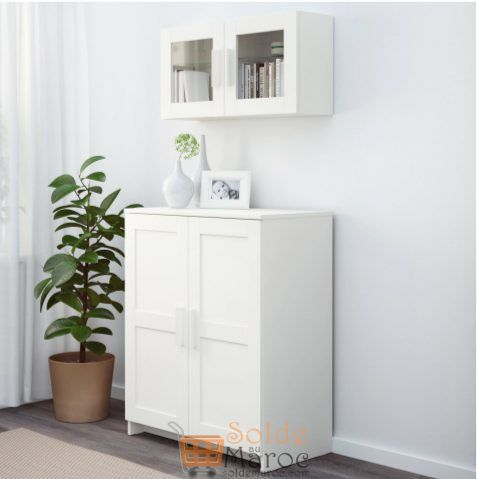 soldes ikea maroc placard avec portes blanc brimnes 799dhs. Black Bedroom Furniture Sets. Home Design Ideas