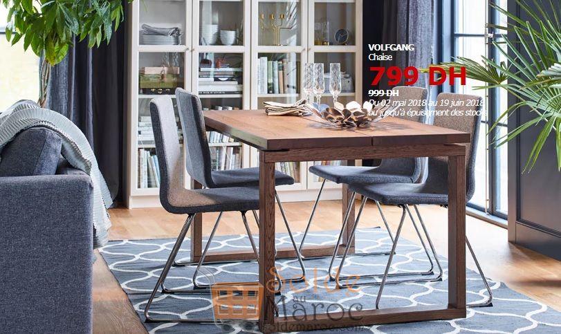 Soldes Ikea Maroc Chaise VOLFGANG 799 Dhs au lieu de 999Dhs