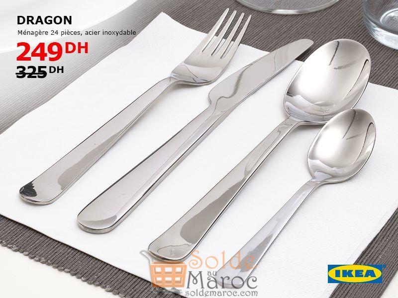 Soldes Ikea Maroc Ménagère 24 Pièces acier inoxydable 249Dhs au lieu de 325Dhs