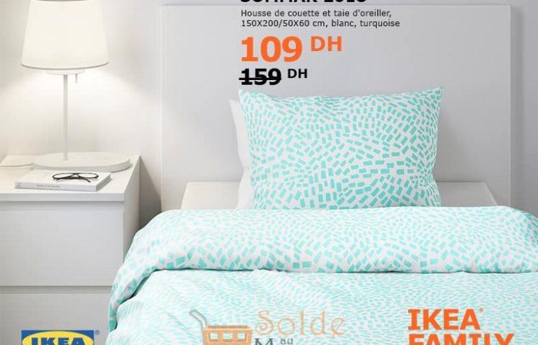 Promo Ikea Family SOMMAR 2018 Housse de couette et taie d'oreiller 109Dhs au lieu de 159DHs