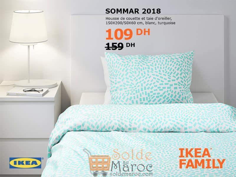 interesting promo ikea family sommar housse de couette et taie doreiller dhs au lieu with ikea. Black Bedroom Furniture Sets. Home Design Ideas