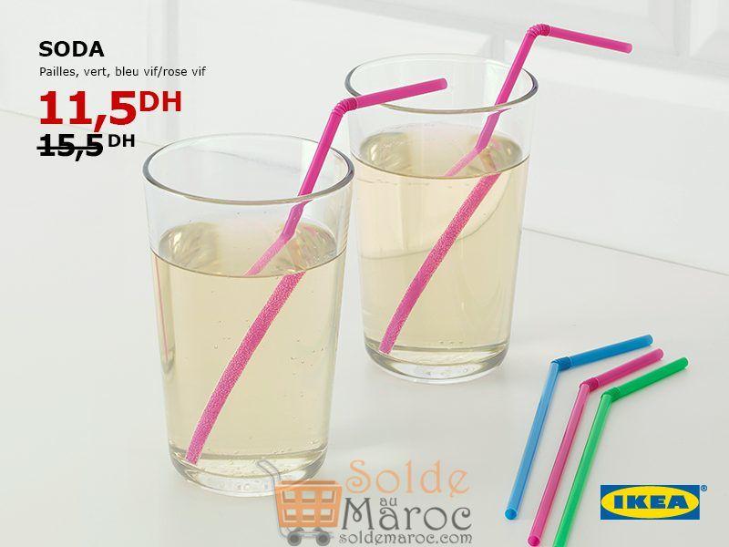 Soldes Ikea Maroc Pack 200 Pailles SODA 11.5Dhs au lieu de 15.5Dhs