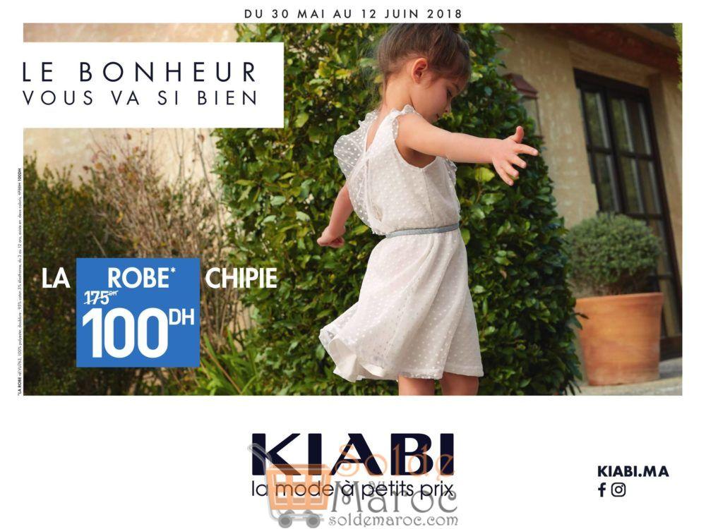 Soldes Kiabi Maroc Robe Chipie 100Dhs au lieu de 175Dhs