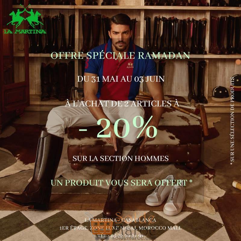 Offre Spéciale Ramadan chez LA MARTINA -20% Selection Hommes