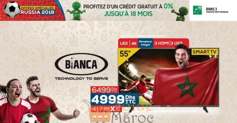Photo of Promo Le Comptoir Electro Smart TV BIANCA Android 4K 55″ + Récepteur intégré 4990Dhs