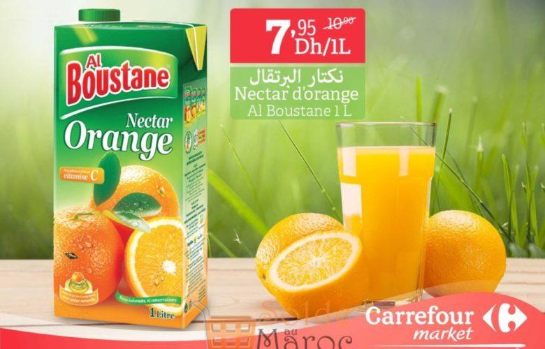 Promo Carrefour Market Nectar Orange Al Boustane 7.95Dhs au lieu de 10.90Dhs