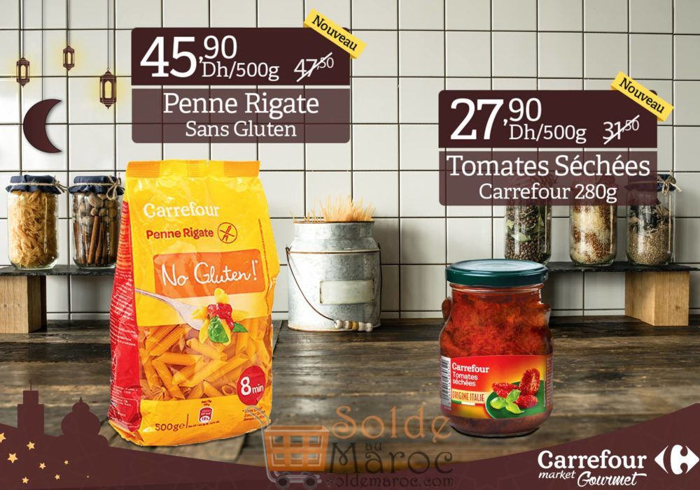 Promo Carrefour Market Gourmet Pâtes sans Gluten & tomates séchées
