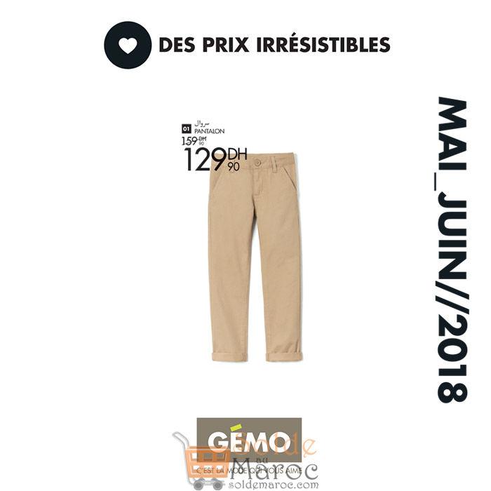 prix plancher couleurs et frappant vente chaude réel Soldes Gémo Maroc Pantalon Garçon 129Dhs – Solde et ...