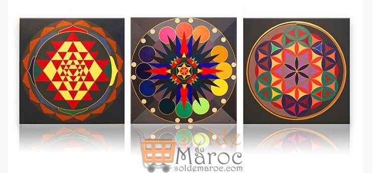 Promo Massinart Tableau décoratif Patterns imprimé en HD 323Dhs au lieu de 359Dhs