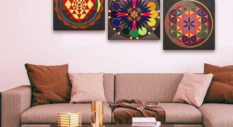 Photo of Promo Massinart Tableau décoratif Patterns imprimé en HD 323Dhs