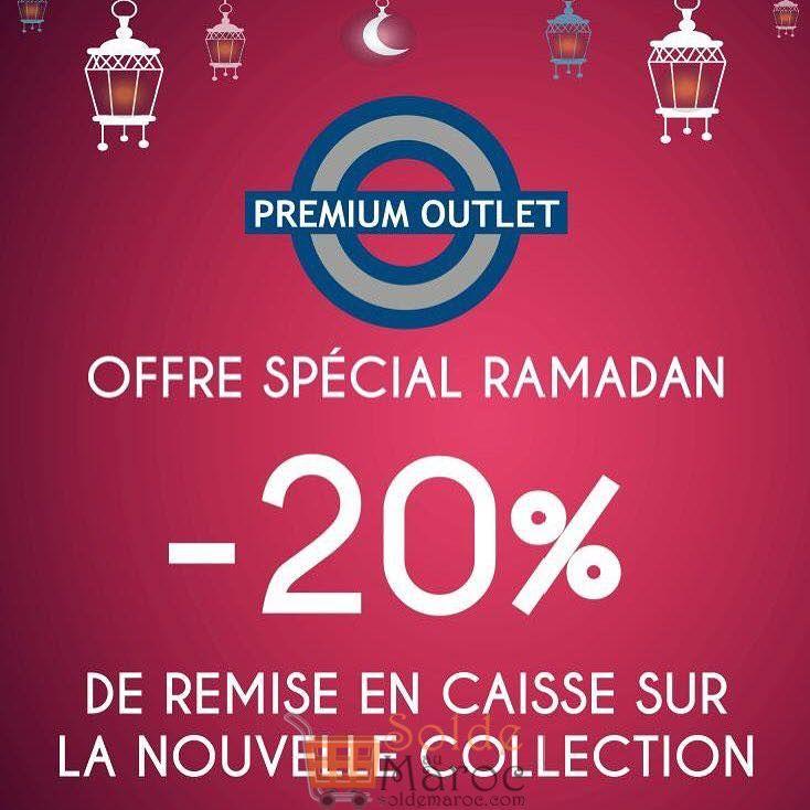 Offre Spéciale Ramadan chez Premium Outlet -20% Remise