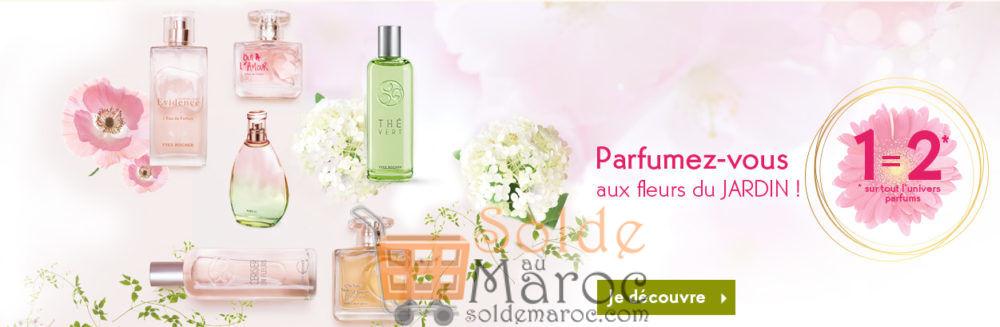 Promo Yves Rocher Maroc 1=2 sur TOUT l'univers parfums